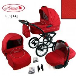 Wózek Polaris retro  (czerwony) 3w1