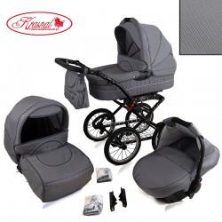 Wózek dziecięcy Krasnal POLARIS retro (szary)