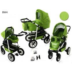 Wózek dziecięcy Krasnal BAVARIO white ( zielony )