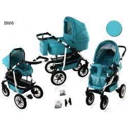 Wózek dziecięcy BAVARIO white ( miętowy )