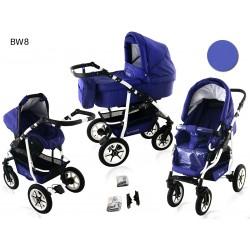 Wózek dziecięcy Krasnal BAVARIO white ( fioletowy )