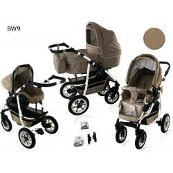 Wózek dziecięcy BAVARIO white ( cappuccino )