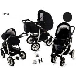 Wózek dziecięcy Krasnal BAVARIO white ( czarny )