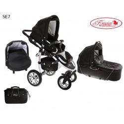 Wózek dziecięcy Krasnal SATURN (czarny + czarny)