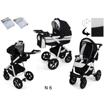 Wózek dziecięcy Krasnal NEXXO ( czarny+biały )