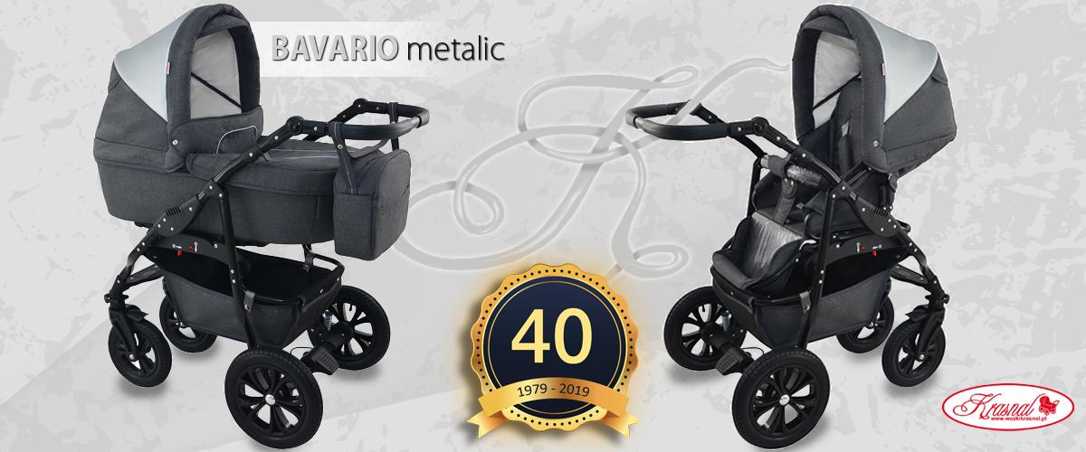 Wózek dziecięcy Krasnal BAVARIO metalic